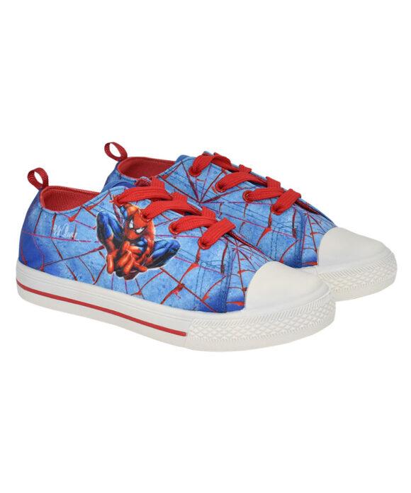 """Παιδικά πάνινα παπούτσια χαμηλά με κορδόνια MAURER'S SUPER HEROES SPIDER"""""""" - ΠΑΠΟΥΤΣΙΑ ΚΑΜΒΑΣ"""