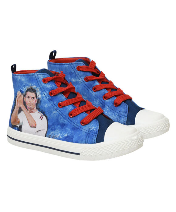 """Παιδικά πάνινα παπούτσια ψηλά με κορδόνια SUPER STAR CR85"""""""" - ΠΑΠΟΥΤΣΙΑ ΚΑΜΒΑΣ"""