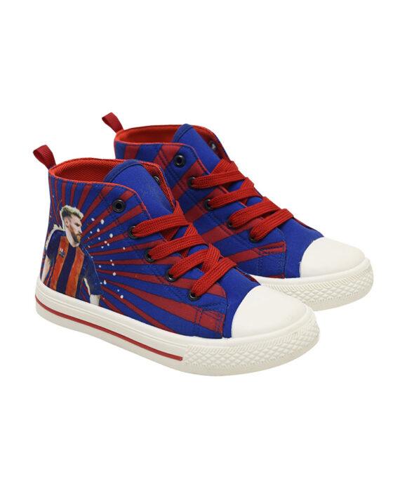 """Παιδικά πάνινα παπούτσια ψηλά με κορδόνια """"SUPER STAR LM87"""" - SUPER STAR LM87"""