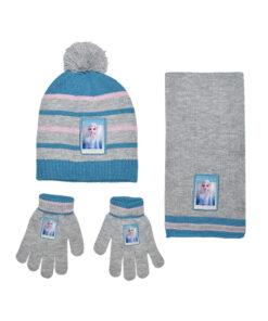"""Παιδικό σετ σκουφί κασκόλ & γάντια """"FROZEN"""" - FROZEN"""