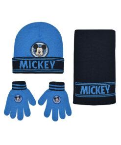 """Παιδικό σετ σκουφί κασκόλ & γάντια """"MICKEY"""" - MICKEY"""