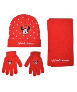 """Παιδικό σετ σκουφί κασκόλ & γάντια """"MINNIE"""" - MINNIE"""