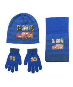 """Παιδικό σετ σκουφί κασκόλ & γάντια """"CARS"""" - CARS"""