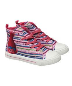 """Παιδικά πάνινα παπούτσια ψηλά με κορδόνια και φερμουάρ """"TROLLS"""" - TROLLS"""