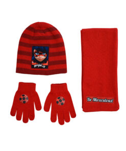 """Παιδικό σετ σκουφί κασκόλ & γάντια """"MIRACULOUS LADYBUG"""" - MIRACULOUS LADYBUG"""