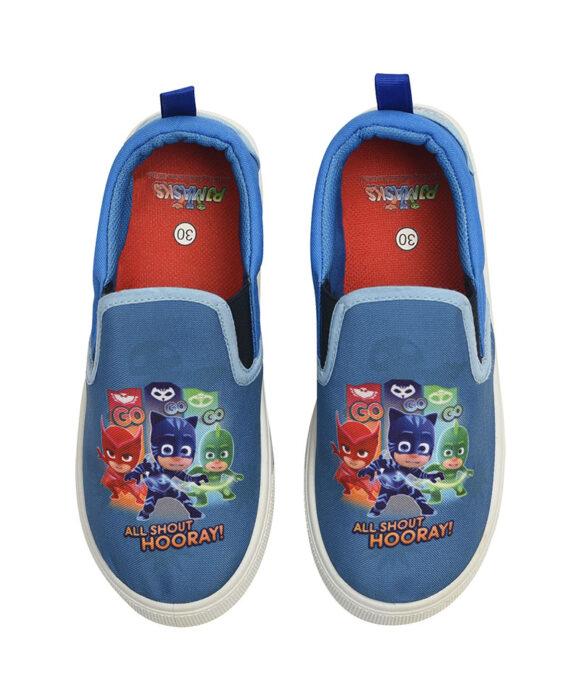 """Παιδικά πάνινα παπούτσια χαμηλά χωρίς κορδόνια """"PJ MASKS"""" - PJ MASKS"""