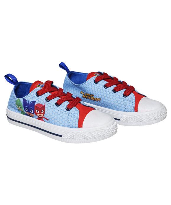 """Παιδικά πάνινα παπούτσια χαμηλά με κορδόνια """"PJ MASKS"""" - PJ MASKS"""