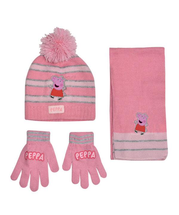 """Παιδικό σετ σκουφί κασκόλ & γάντια """"PEPPA PIG"""" - PEPPA PIG"""