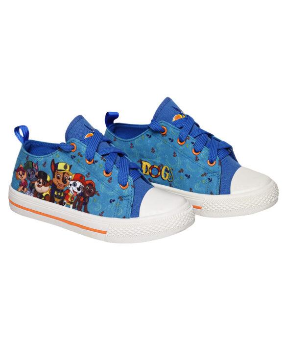 """Παιδικά πάνινα παπούτσια χαμηλά με κορδόνια """"PAW PATROL"""" - PAW PATROL"""
