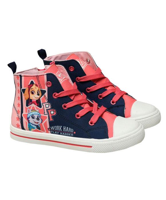 Παιδικά πάνινα παπούτσια ψηλά με κορδόνια & φερμουάρ  PAW PATROL - PAW PATROL