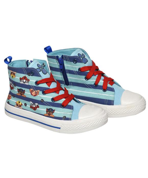 """Παιδικά πάνινα παπούτσια ψηλά με κορδόνια & φερμουάρ """"PAW PATROL"""" - PAW PATROL"""