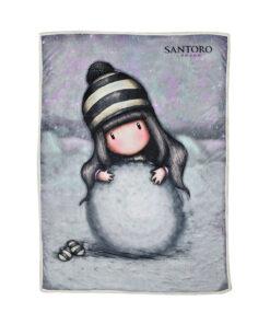 """Κουβέρτα sherpa (γούνα) Santoro Gorjuss """"THE SNOWGIRL"""" 160x220cm - SANTORO"""