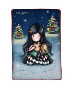 "Κουβέρτα fleece Santoro Gorjuss ""MY CHRISTMAS FRIEND""	 140x210cm - SANTORO"
