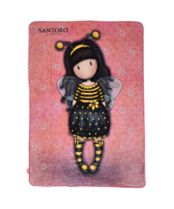 "Κουβέρτα fleece Santoro Gorjuss ""BEE LOVED""	 140x210cm - SANTORO"