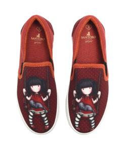 """Παιδικά πάνινα παπούτσια χαμηλά χωρίς κορδόνια Santoro Gorjuss """"RUBY"""" - SANTORO"""