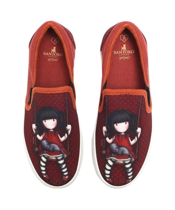 Παιδικά πάνινα παπούτσια χαμηλά χωρίς κορδόνια Santoro Gorjuss  RUBY - SANTORO