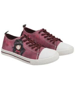 """Παιδικά πάνινα παπούτσια χαμηλά με κορδόνια Santoro Gorjuss """"LADYBIRD"""" - SANTORO"""