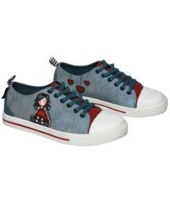 """Παιδικά πάνινα παπούτσια χαμηλά με κορδόνια Santoro Gorjuss """"MY STORY"""" - SANTORO"""