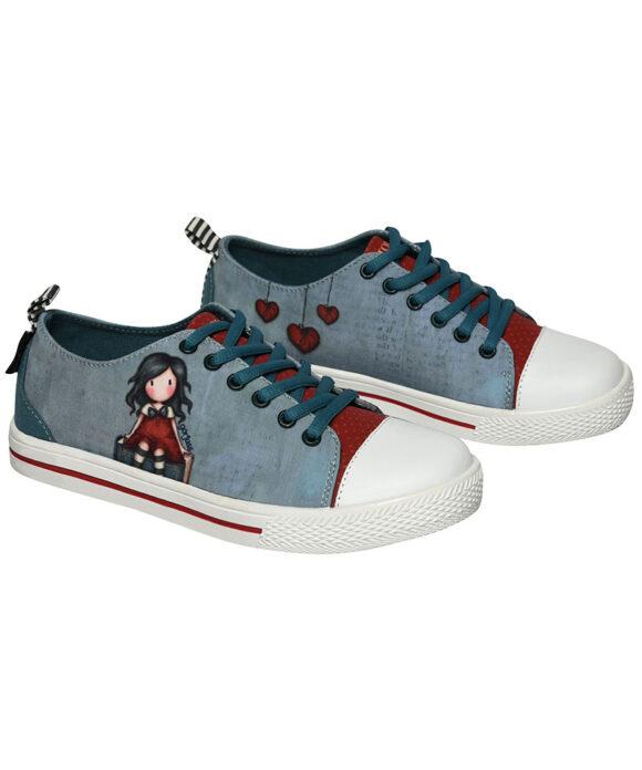 Παιδικά πάνινα παπούτσια χαμηλά με κορδόνια Santoro Gorjuss  MY STORY - SANTORO