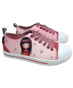 """Παιδικά πάνινα παπούτσια χαμηλά με κορδόνια Santoro Gorjuss """"LITTLE LOVE"""" - SANTORO"""