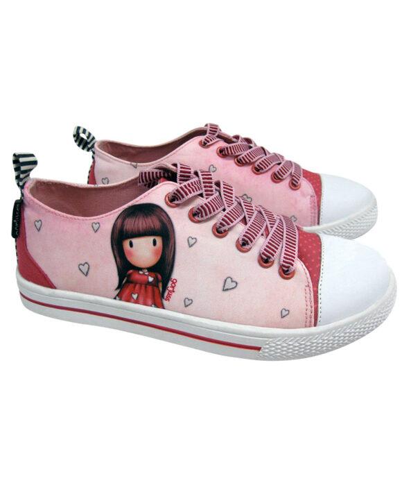 Παιδικά πάνινα παπούτσια χαμηλά με κορδόνια Santoro Gorjuss  LITTLE LOVE - SANTORO