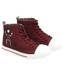 """Παιδικά πάνινα παπούτσια ψηλά με κορδόνια Santoro Gorjuss """"Ruby"""" - SANTORO"""