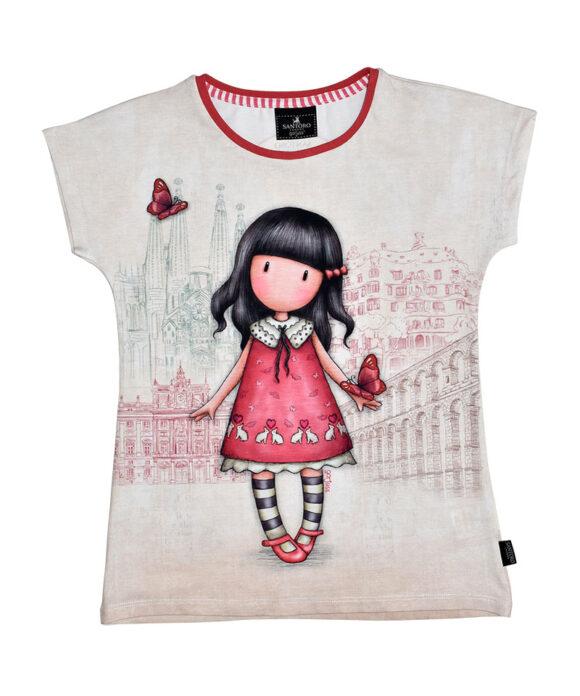 """Παιδικό t-shirt κοντομάνικο Santoro Gorjuss """"TIME TO FLY"""" - SANTORO"""