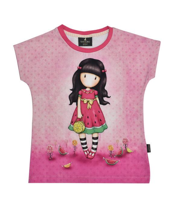 """Παιδικό t-shirt κοντομάνικο Santoro Gorjuss """"EVERY SUMMER HAS A STORY"""" - SANTORO"""