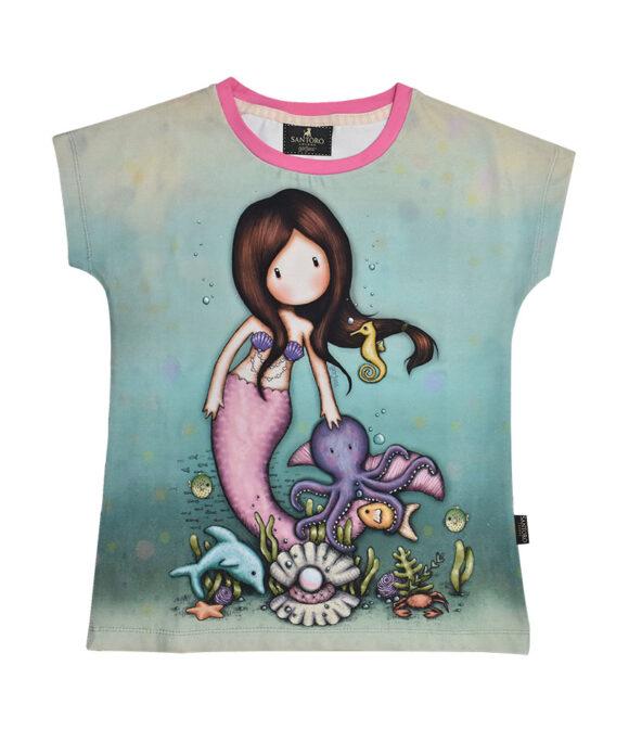 """Παιδικό t-shirt κοντομάνικο Santoro Gorjuss """"NICE TO SEA YOU"""" - SANTORO"""