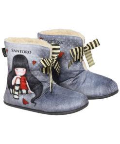 """Παιδικές παντόφλες μποτάκια Santoro Gorjuss """"The Collector"""" - SANTORO"""
