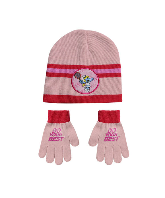 """Παιδικό σκουφί & γάντια """"ΣΤΡΟΥΜΦΑΚΙΑ"""" - SMURFS"""