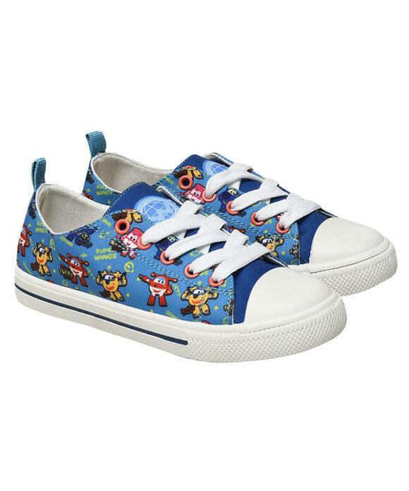 """Παιδικά πάνινα παπούτσια χαμηλά με κορδόνια """"SUPER WINGS"""" - SUPER WINGS"""