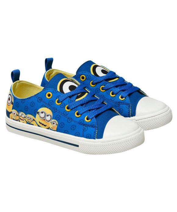 """Παιδικά πάνινα παπούτσια χαμηλά με κορδόνια """"MINIONS"""" - MINIONS"""