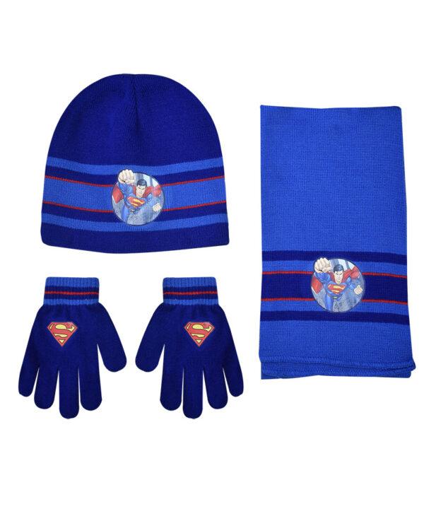 """Παιδικό σετ σκουφί κασκόλ & γάντια """"SUPERMAN"""" - SUPERMAN"""