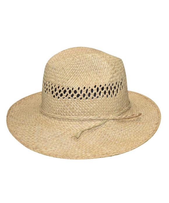 Καπέλο ψάθινο χειροποίητο Μαδαγασκάρης vented - STAMION