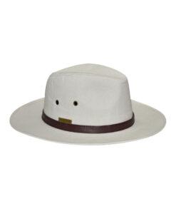 Καπέλο με δερμάτινη διακόσμηση - STAMION