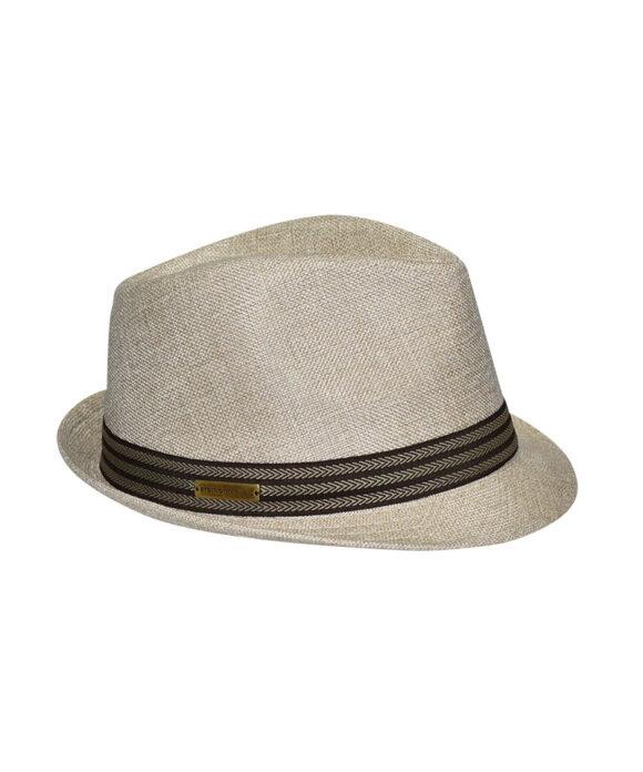 Καπέλο καβουράκι με ριγέ κορδέλα - STAMION