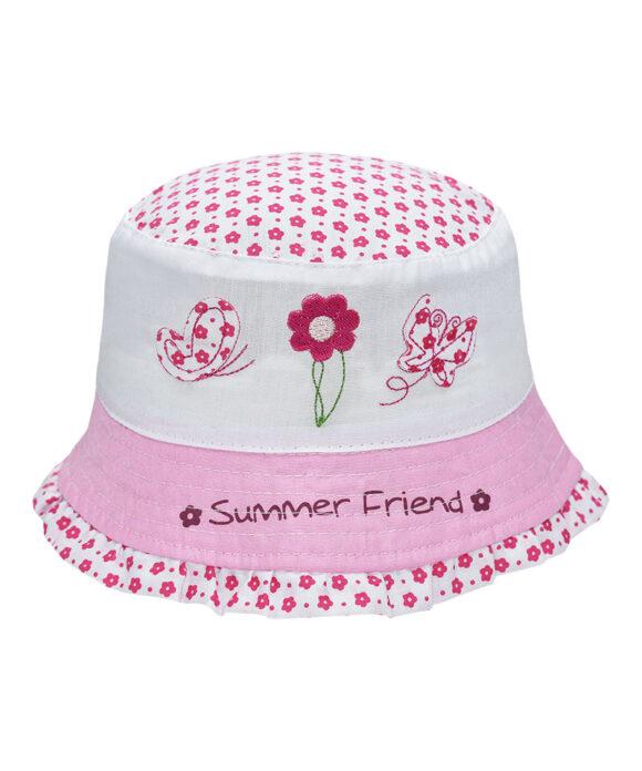 Καπέλο κώνος μπεμπέ με κέντημα - STAMION