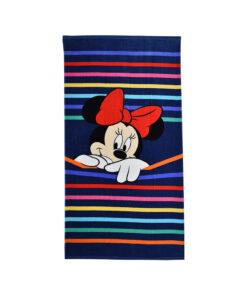 Πετσέτα θαλάσσης Disney Minnie με ρίγες - MINNIE