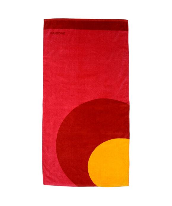 Πετσέτα θαλάσσης Pantone κόκκινος κύκλος - PANTONE