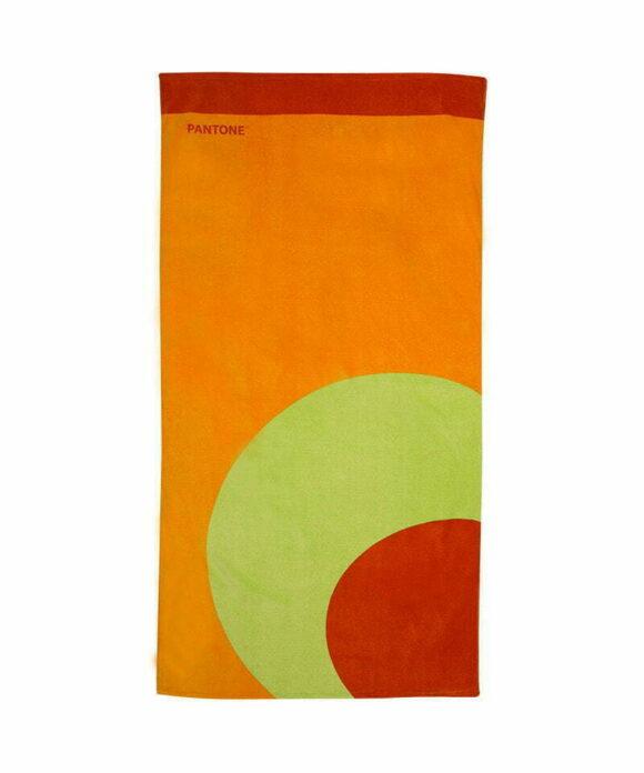 Πετσέτα θαλάσσης Pantone πορτοκαλί κύκλος - PANTONE