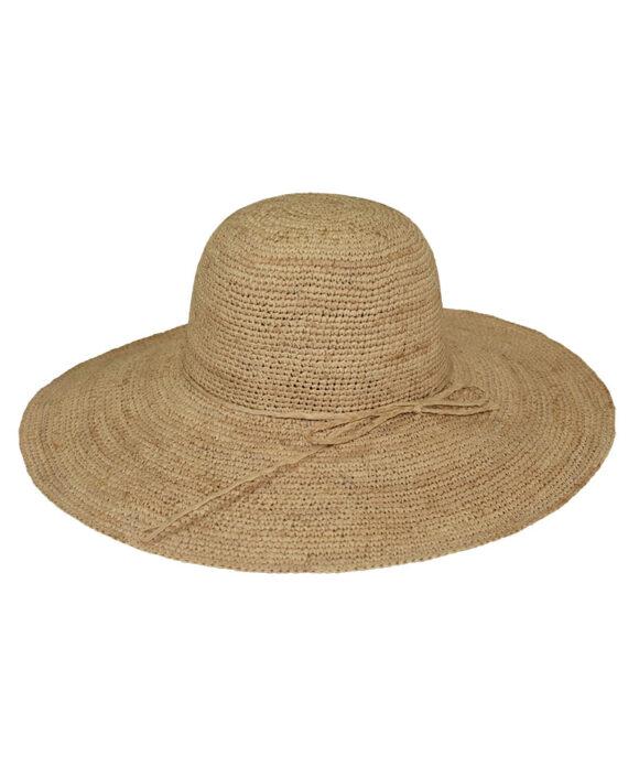 Καπέλο ψάθινο πλατύγυρο χειροποίητο Μαδαγασκάρης - STAMION