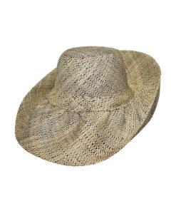 Καπέλο ψάθινο Demi-Capeline χειροποίητο Μαδαγασκάρης - STAMION