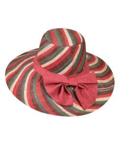 Καπέλο ψάθινο Capeline με μεγάλο φιόγκο