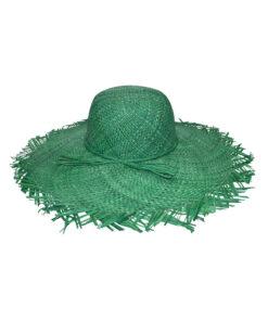 Καπέλο ψάθινο παραλίας με ξέφτια