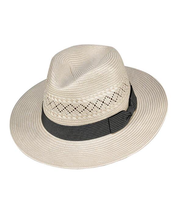 Καπέλο τύπου Panama με γκρι κορδέλα - STAMION
