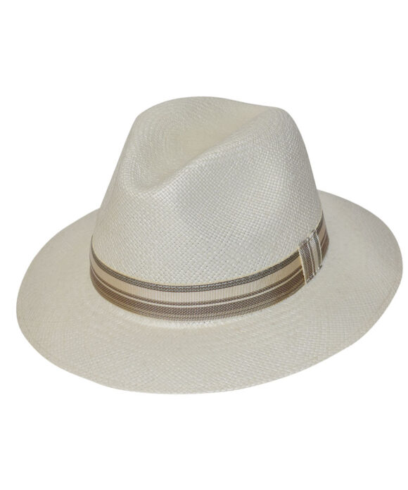 Brisa καπέλο Panama Ιταλίας με ριγέ κορδέλα - STAMION