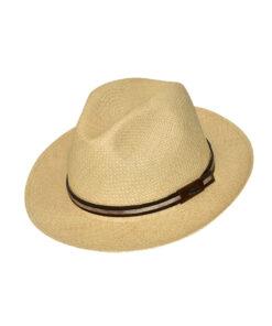Brisa καπέλο Panama Ιταλίας με δερμάτινη διακόσμηση - STAMION