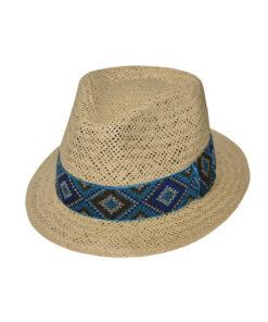 Καπέλο trilby με jacquard κορδέλα - STAMION