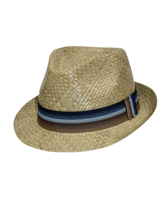 Καπέλο trilby ανδρικό ψάθινο - STAMION